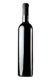 Red wine blank bottle Stock Images