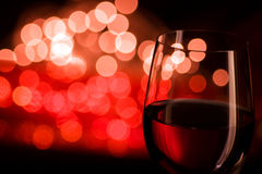 Red wine and blurred lights Stock Photo