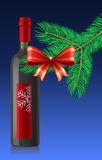 Red wine bottle. New Year's Eve celebration with red wine Stock Photo