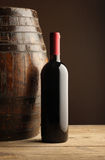 Red wine bottle stock image