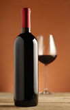 Red wine bottle Royalty Free Stock Images