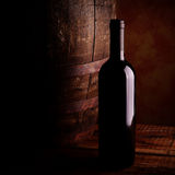 Red wine bottle royalty free stock image