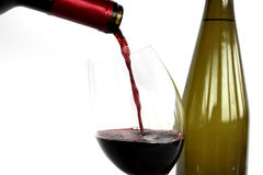 Red wine. And bottle Royalty Free Stock Photo
