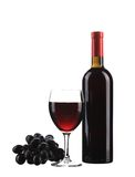Red Wine Bottle And Glass. Royalty Free Stock Photography