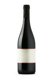 Red wine bottle with blank etiquette Royalty Free Stock Photography