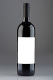 Red wine bottle with blank label, clipping path Stock Images