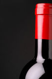 Red wine bottle closeup Royalty Free Stock Image