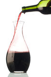 Red wine bottle and decanter Royalty Free Stock Photography