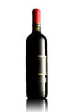 Red wine bottle with empty label Royalty Free Stock Image
