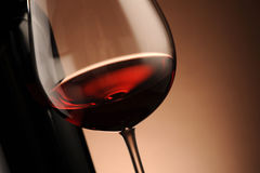 Red wine, bottle and glass Royalty Free Stock Photo