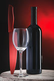 Red wine bottle Stock Images
