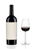Red wine bottle and glass Royalty Free Stock Photo