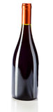 Red wine bottle isolated on white Royalty Free Stock Photography