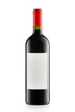 Red wine and a bottle isolated on white Stock Photography