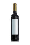 Red wine bottle with no label royalty free stock photography