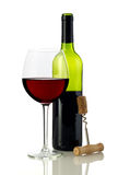 Red wine and bottle opener Royalty Free Stock Image