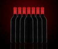 Red wine and a bottle Royalty Free Stock Photography