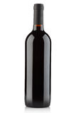 Red wine bottle on white, clipping path Royalty Free Stock Photos