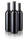 Red wine bottles Stock Photos