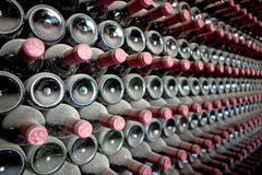 Red wine bottles Royalty Free Stock Images