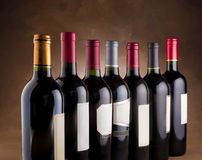 Red wine bottles Royalty Free Stock Image