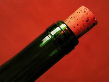 Red wine bottles and cork Royalty Free Stock Image