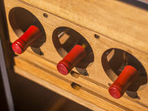 Red wine bottles Royalty Free Stock Image
