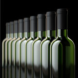Red Wine Bottles In Wine Cellar Or In Liquor Store Stock Photography