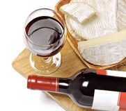 Free Red Wine, Brie And Camembert Cheeses Royalty Free Stock Photo - 23294125