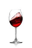 Red wine in broken glass Royalty Free Stock Photos