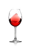 Red wine in broken glass Royalty Free Stock Image