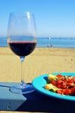 Red Wine and Bruschetta royalty free stock photo