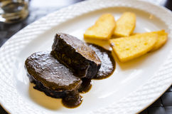 Red wine and butter beef stew Royalty Free Stock Photography