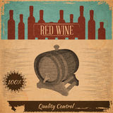 Red Wine Card Stock Photo