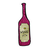 red wine cartoon Stock Photography
