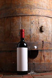 Red wine in cellar Royalty Free Stock Image