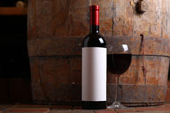 Red wine in cellar Stock Photos