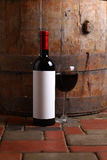 Red wine in cellar Stock Images