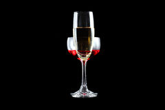 Red wine and champagne Stock Photos