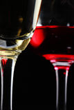 Red wine and champagne close up Stock Photography
