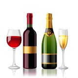 Wine and champaigne Royalty Free Stock Photo