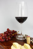 Red Wine & Cheese Stock Photos