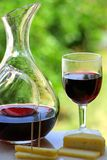 Red wine with cheese Royalty Free Stock Images