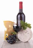Red wine and cheese Royalty Free Stock Photography