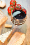 Red wine, cheese, bread Royalty Free Stock Image