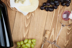Red wine, cheese and grape Royalty Free Stock Photo