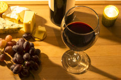Red Wine Cheese and Grapes Royalty Free Stock Photo