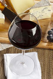 Red Wine And Cheese Plate Royalty Free Stock Images