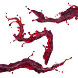 Red wine or cherry juice dynamic drink splash Stock Image