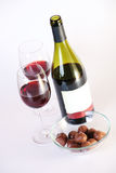 Red wine and chocolate Royalty Free Stock Image